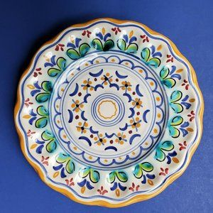 Talavera Mexican Pottery Display Plate Artist sign
